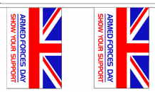 ARMED FORCES DAY BUNTING - 3 METRES 10 FLAGS